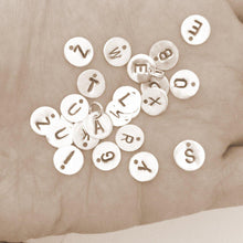 Load image into Gallery viewer, Letter pendants in Sterling Silver