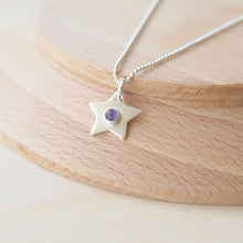 Load image into Gallery viewer, Silver Star Pendant with Amethyst centre