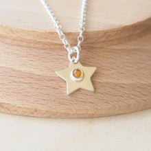 Load image into Gallery viewer, Silver Star Pendant with Citrine centre