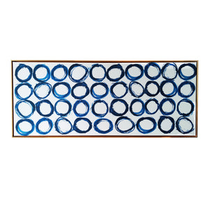 """""""Blue Rings"""" Floating Frame Print on Canvas Wall Art"""