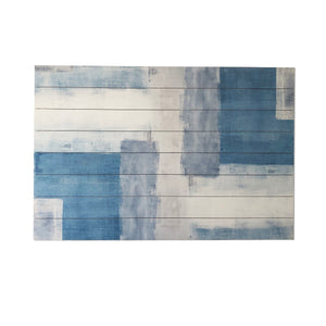 """""""Soft Abstract"""" Print on Planked Wood Wall Art"""