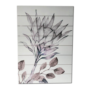 """Soft Protea"" Print on Planked Wood Wall Art"