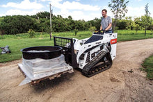 Mini Skid Steer With Tracks Moving Materials
