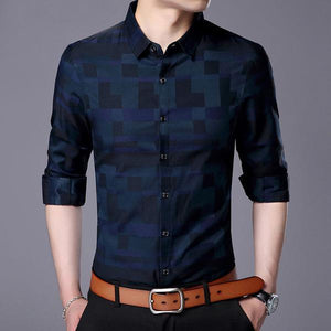 05bc45daa6d Men s Business Casual Plaid Long Sleeve – STYLE THE LOOK