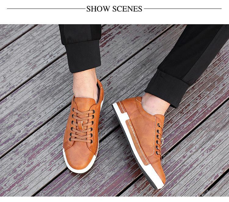 Men's Leather Fashion Sneaker