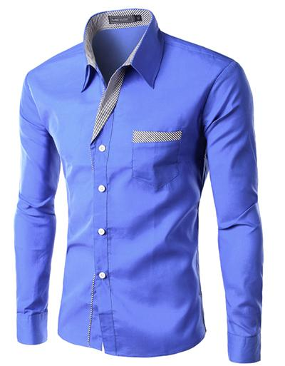Men's Dual-Tone Slim Fit Dress Shirt