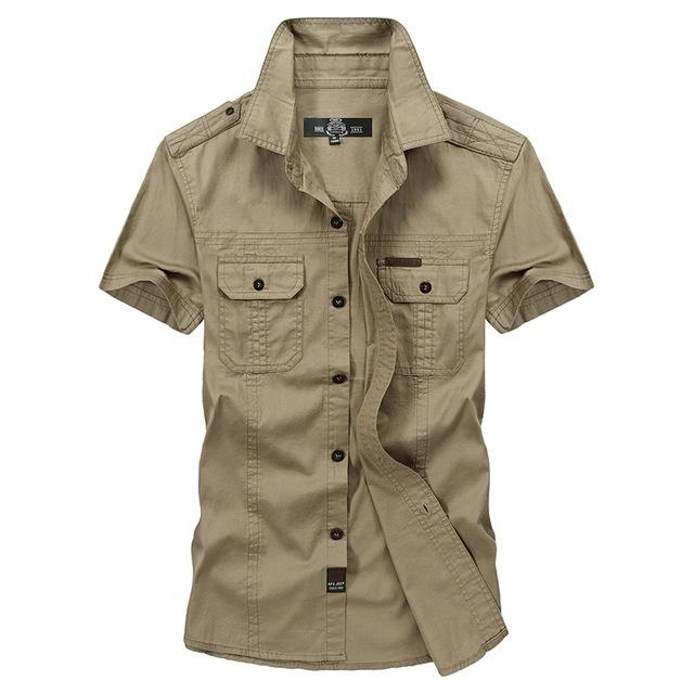 Arden Military Inspired Slim Fit Short-Sleeve Shirt