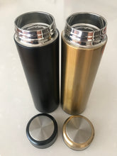 reusable flask stainless steel double wall Honeychild tea brewing water bottle