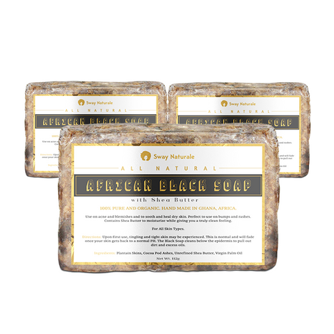 African Black Soap - 3 Pack