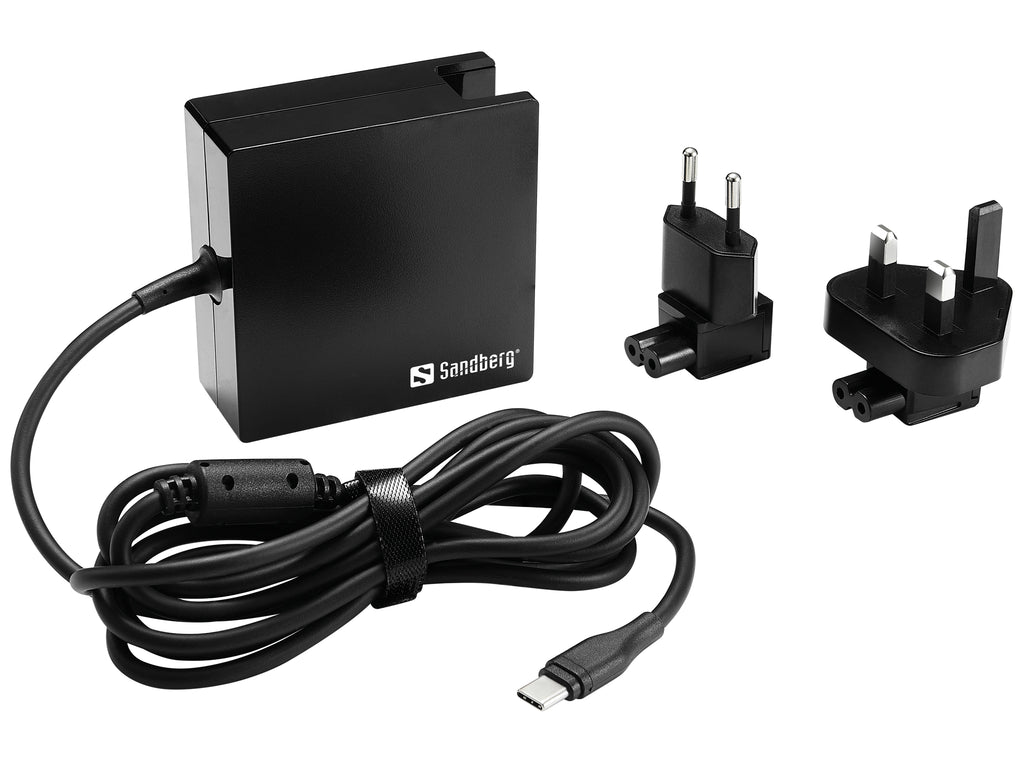 Sandbarg Захранващ адаптор USB-C PD AC-Charger 90W EU+UK