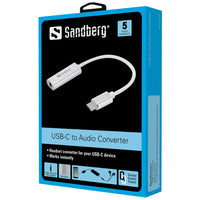 Sandberg Аудио адаптер, Headset converter for USB-C device.