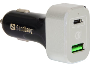 Sandberg USB-C+QC3.0 Car Charger  Зарядно за кола