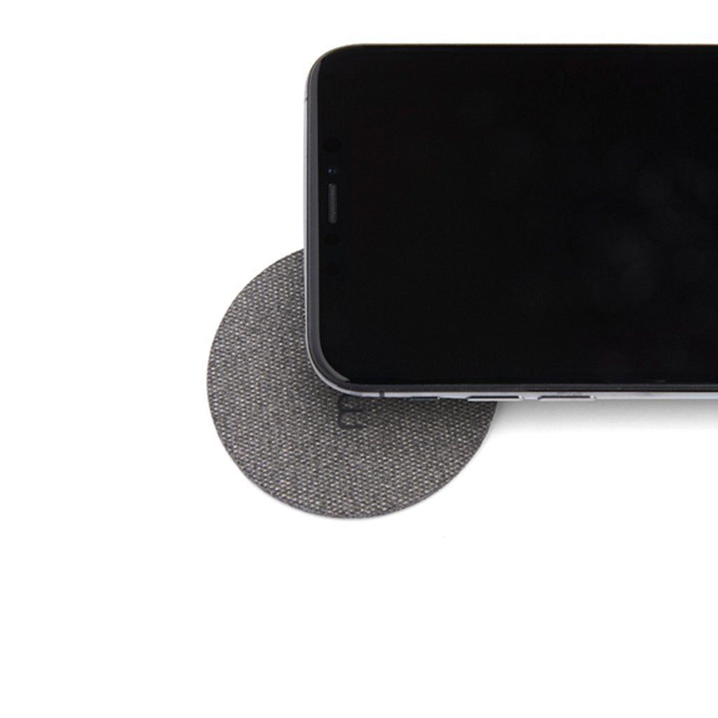Moon Wireless Charging Pad Безжично зарядно, Black Fabric