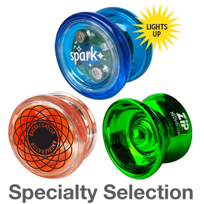 Specialty Selection: professional long spin yos for special effects and tricks