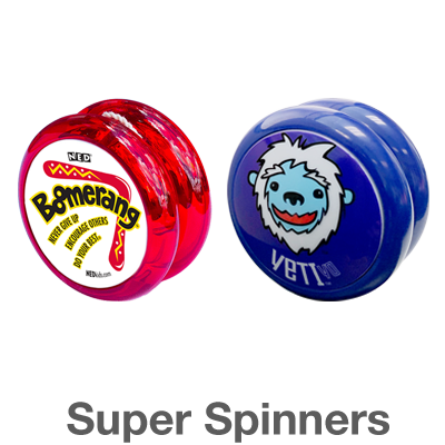 NZ Super Spinners: spins longer and auto returns for basic and intermediate tricks