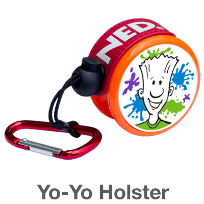 Yo-Yo Holster: carry your yo by hooking it on your backpack or belt loop