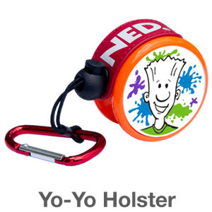 EU Yo-Yo Holster: carry your yo by hooking it on your backpack or belt loop