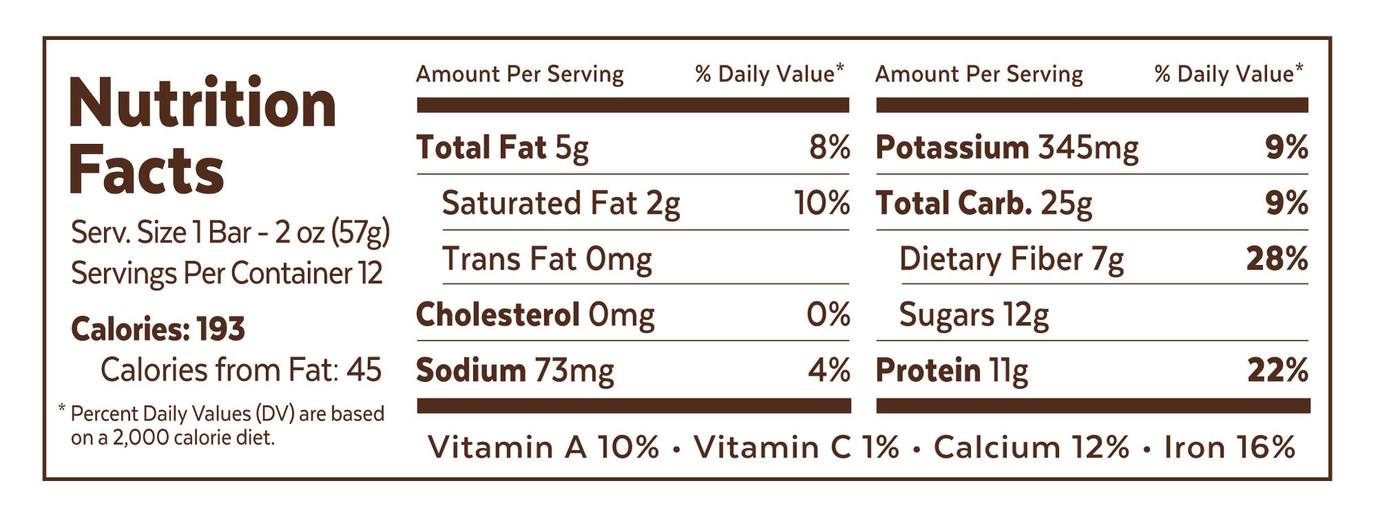 Chocolate Peanut Better Nutrition Facts