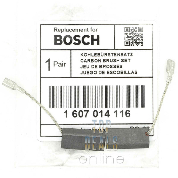 Bosch PWS 8-125 CE PWS 7-125 E PWS 7-115 Angle Grinder Carbon Brushes 1607014116