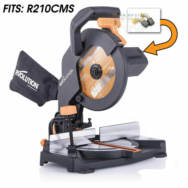 Carbon Brushes for Evolution R210CMS F210CMS 210mm TCT Compound Sliding Mitre Saw
