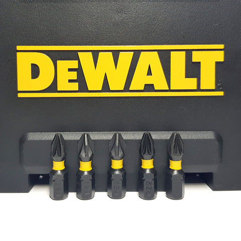 DeWALT PZ2 Extreme Torsion Impact Screwdriver Bits Pozi 25mm x5 Bits
