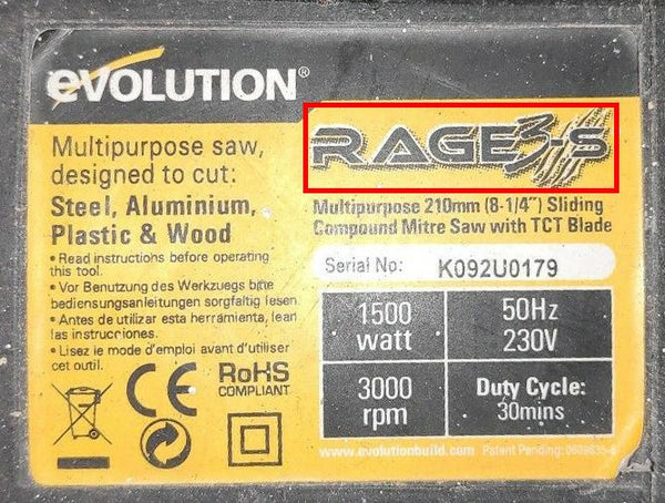 Carbon brushes for Evolution RAGE 3s Chop Saw
