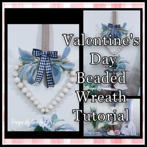 How to Make a Simple Farmhouse Wood Bead Wreath