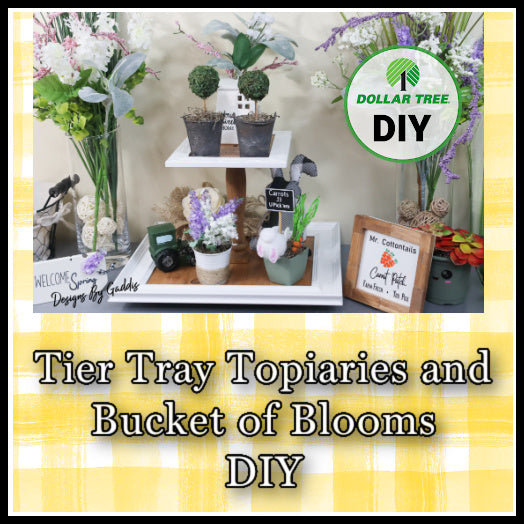 How to Decorate a Tiered Tray for Spring | Tier Tray Spring Topiaries and Flowers