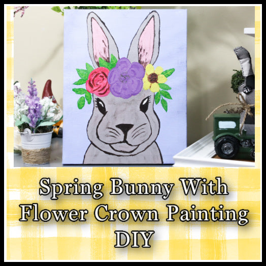 Easy Spring Decor Bunny Painting | Easy Easter Bunny Painting