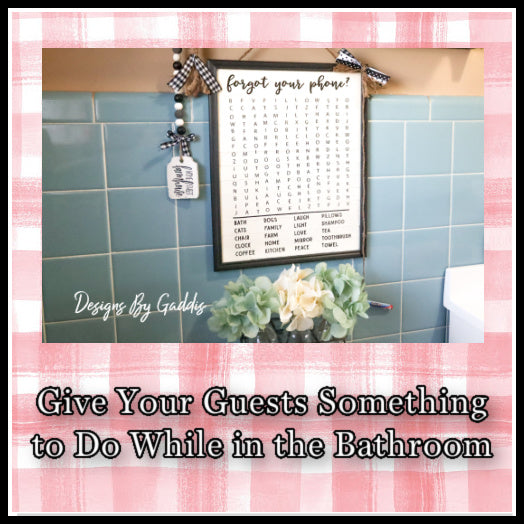 Word Search Farmhouse Bathroom Sign Tutorial