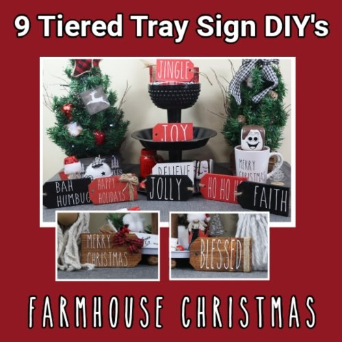 9 Tiered Tray Sign DIY's