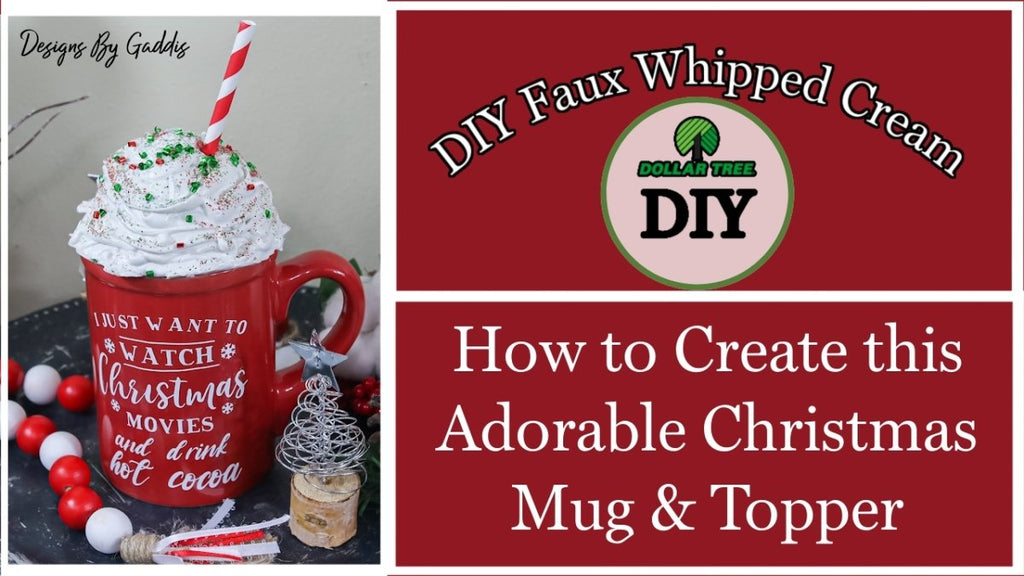 Easiest Way to Create a Faux Whip Cream Topper | Plus Adorable Mug