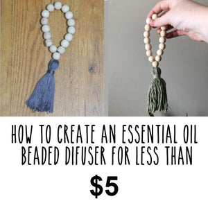 Essential Oil Wood Bead Diffuser | How to Make an Essential Oil Diffuser | Simple Diffuser DIY