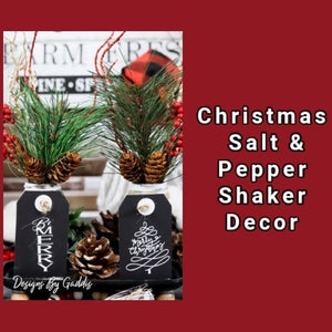 Farmhouse Christmas Salt & Pepper Shaker Set DIY