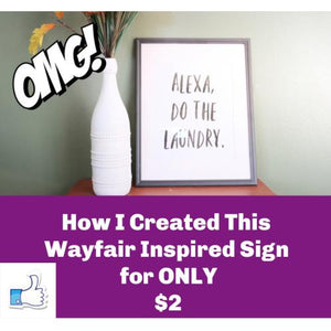 How to Create a Free Printable | Wayfair Laundry Room Decor | Laundry Room Printable