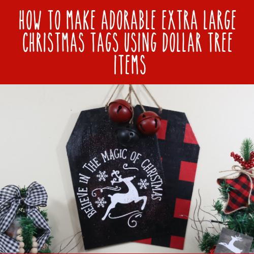 How to Make a Dollar Tree Christmas Sign DIY | 2 Farmhouse Christmas DIY Signs for Beginners