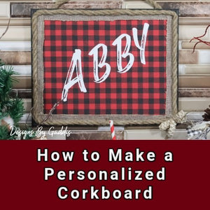 How to Make a Personalized Buffalo Print Cork Board Using a Dollar Tree Frame