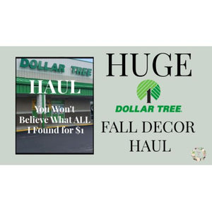 HUGE DOLLAR TREE FALL DECOR HAUL | See what I got at 💵 🌳 | Athens GA Dollar Tree Haul