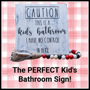 The PERFECT Kid's Bathroom Sign | Design Space Tutorial