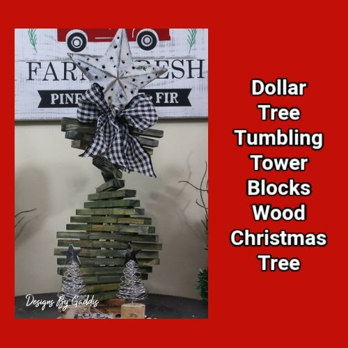 Tumbling Tower Christmas Tree DIY | Rustic Farmhouse Christmas DIY
