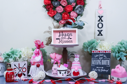 The Sweetest Valentine's Day Tiered Tray Decor EVER