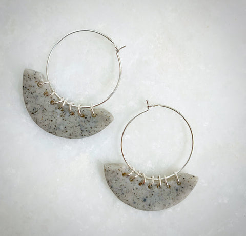 Stone Lilly Hoops