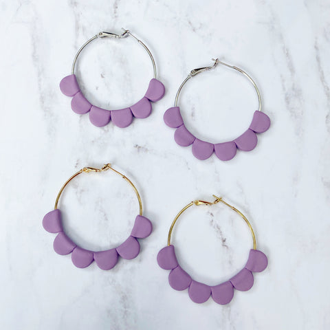 Purple Darcy Hoops
