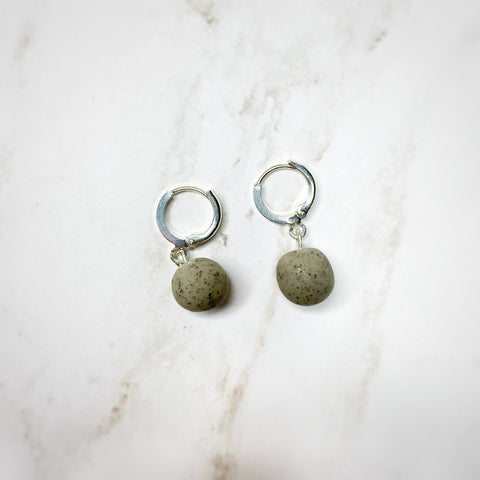 Dainty Hoops - Granite