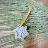 Snowflake Christmas Ornament - Grey