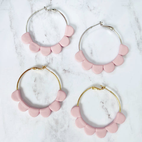 Pink Darcy Hoops
