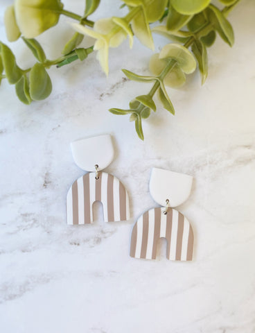 Linen Stripe Mini Sabrina