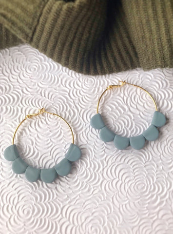 Dusty Blue Darcy Hoops