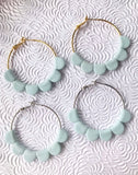 Ice Blue Darcy Hoops