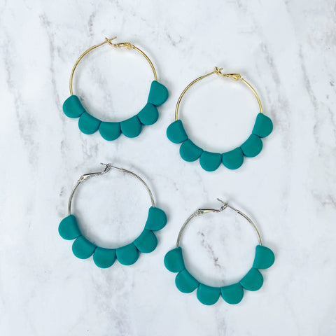 Teal Darcy Hoops